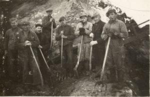 Brunkulsarbejdere i Ørnhøj