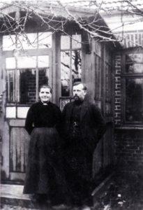Peder Krøjgaard og Kirsten Marie Svendsen, født i Hammerum.