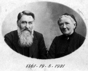 Rasmus Nielsen og hustru havde Guldbryllup i 1921
