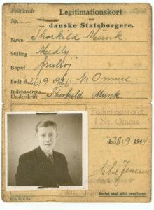 Legitimationskort, Thorkild Munk, 1944